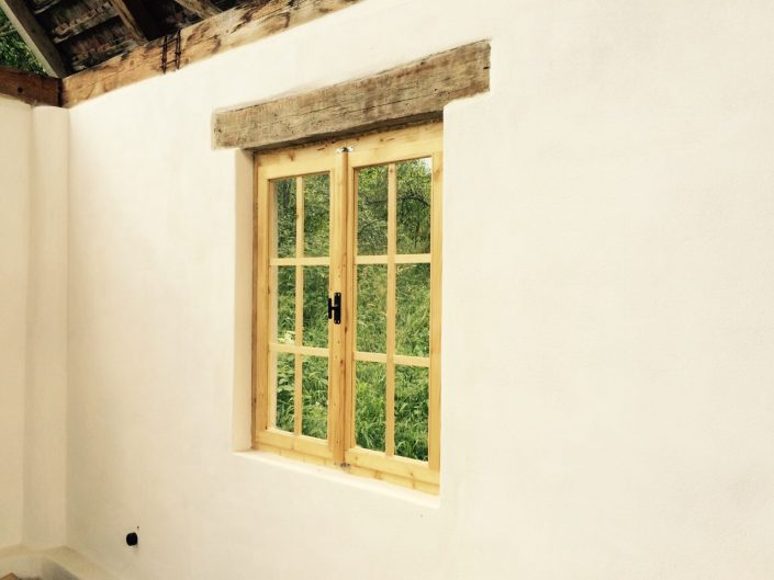 handmade windows by local craftsmen